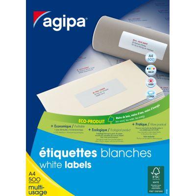 agipa Adress-Etiketten, 210 x 297 mm, weiß