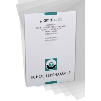 SCHÖLLERSHAMMER Zeichenpapierblock, DIN A4, hochtransparent