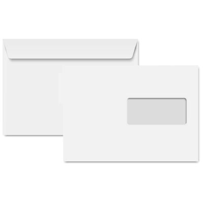Clairalfa Briefumschläge DL, 110 x 220 mm, Recycling weiß