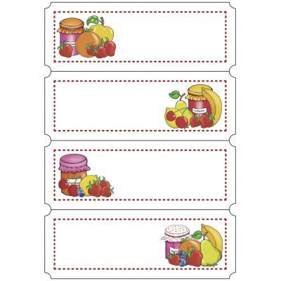 HERMA Haushalts-Etiketten Vichy-Karo, 76 x 23 mm, rot