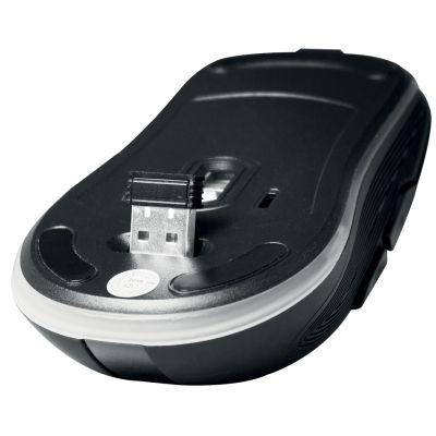 LogiLink Optische Funkmaus, kabellos, schwarz, beleuchtet