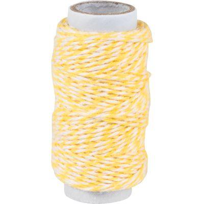 KNORR prandell Dekoschnur / Bäckerkordel, gelb, 20 m