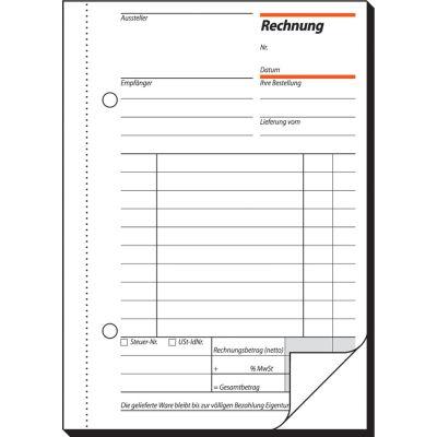 sigel Formularbuch Rechnung, A5, 2 x 50 Blatt, Blaupapier