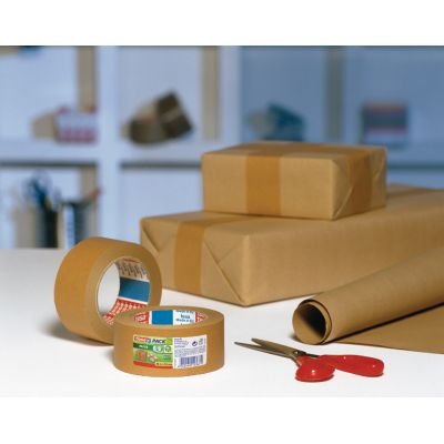 tesapack PAPER ecoLogo Verpackungsklebeband, 50 mm x 50 m