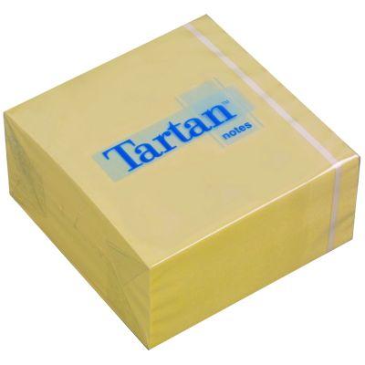 Tartan Haftnotiz Würfel, 76 x 76 mm, gelb, 400 Blatt