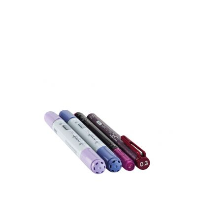 COPIC Marker ciao, 4er Set Doodle Pack Purple