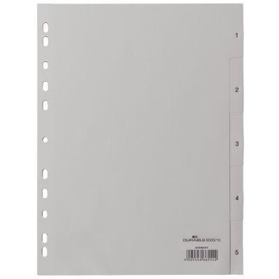 DURABLE Kunststoff-Register, Zahlen, A4, 20-teilig, 1 - 20
