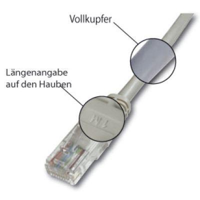 DIGITUS Patchkabel Premium, Kat. 5e, U/UTP, 0,25 m, grau
