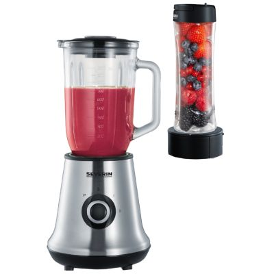 SEVERIN Multimixer + Smoothie Mix & Go SM 3737, Edelstahl