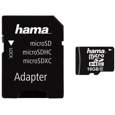 hama Speicherkarte Micro SecureDigital High Capacity, 16 GB