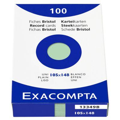 EXACOMPTA Karteikarten, DIN A6, kariert, farbig sortiert