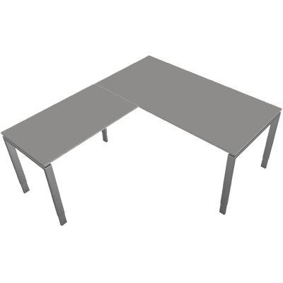 kerkmann Schreibtisch Form 5, (B)1.800 x (T)800 mm, weiß