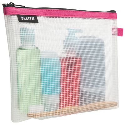 LEITZ Kosmetiktasche WOW Traveller, transparent/pink