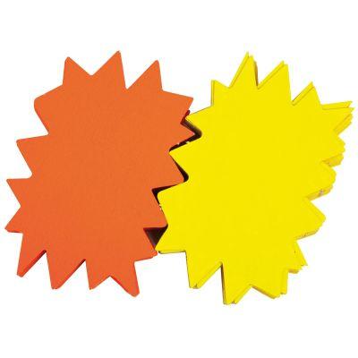 agipa Signal-Etiketten Stern, gelb/orange, 160 x 240 mm