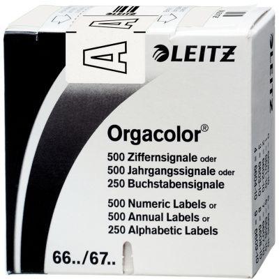 LEITZ Buchstabensignal Orgacolor J, auf Rolle, schwarz