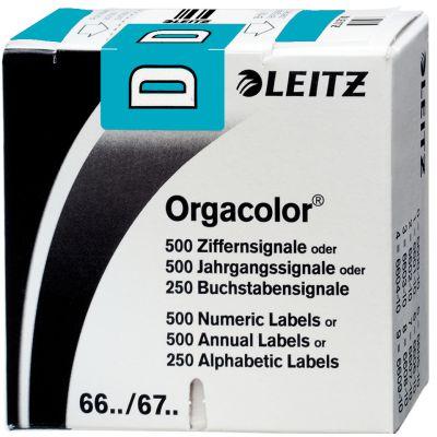 LEITZ Buchstabensignal Orgacolor S, auf Rolle, grün