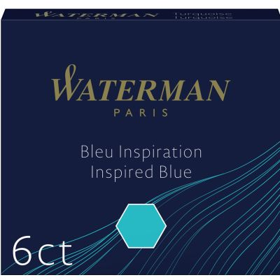WATERMAN Standard Tintenpatronen, blau, löschbar