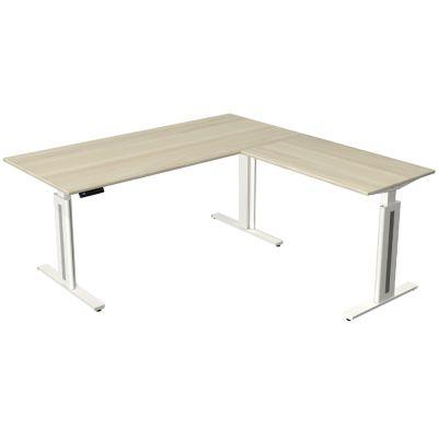 kerkmann Sitz-Steh-Schreibtisch Move 3 fresh mit Anbau,ahorn