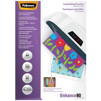 Fellowes Laminierfolientasche, selbstklebend, A4, 250 mic