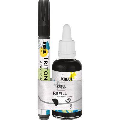 KREUL Refill TRITON Acrylic Marker, edge Schwarz Set