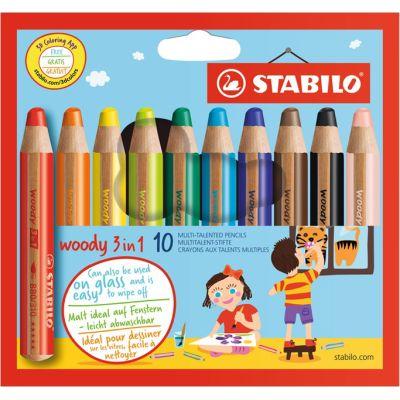 STABILO Multitalentstift woody 3 in 1, 18er Karton-Etui