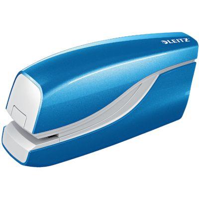 LEITZ Elektrisches Heftgerät WOW, blau-metallic