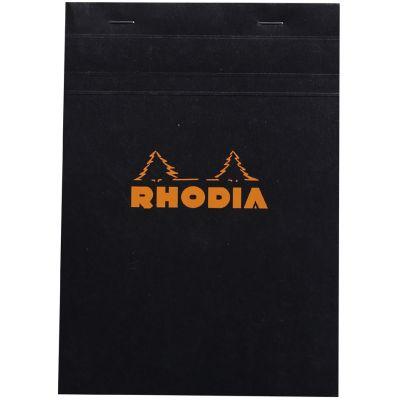 RHODIA Notizblock No. 16, DIN A5, kariert, schwarz