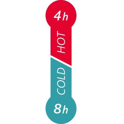 emsa Isolierbecher TRAVEL MUG, 0,36 L., Manschette rot