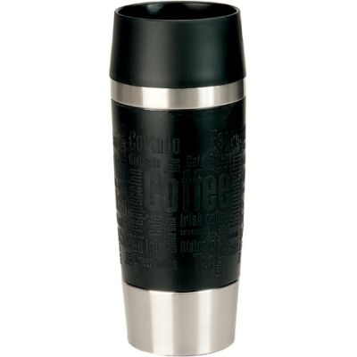 emsa Isolierbecher TRAVEL MUG, 0,36 L., Manschette himbeere
