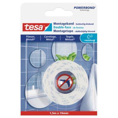 tesa Powerbond Montageband für Fliesen/Metall, 19 mm x 1,5 m