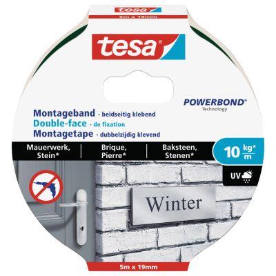 tesa Powerbond Montageband für Mauerwerk, 19 mm x 1,5 m