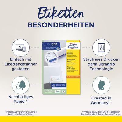 AVERY Zweckform Universal-Etiketten, 105 x 148 mm, weiß