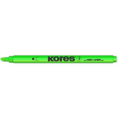 Kores Textmarker-Pen, Keilspitze: 0,5 - 3,5 mm, gelb