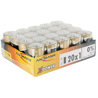 ANSMANN Alkaline Batterie X-Power,9V E-Block, 10er Display