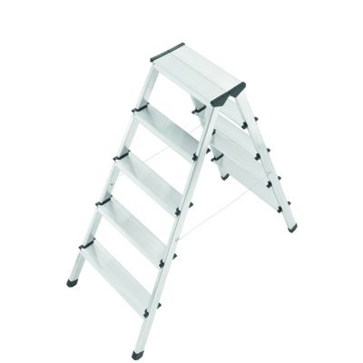 Hailo Alu-Doppelstufenleiter L90, 2 x 7 Stufen
