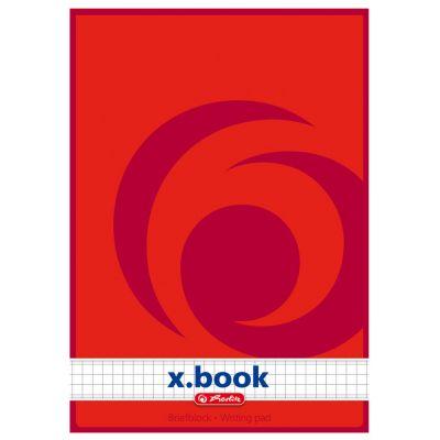 herlitz Briefblock x.book, A5, ungelocht, 50 Blatt, kariert