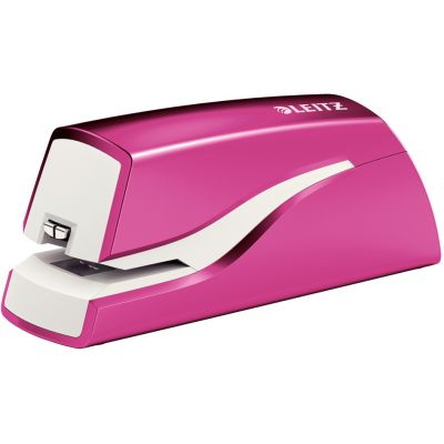 LEITZ Elektrisches Heftgerät WOW, pink-metallic