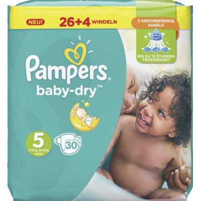 Pampers Windeln baby-dry Größe 2 Mini, 3-6 kg, Sparpack