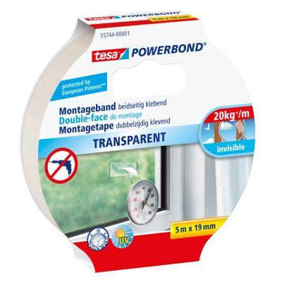 tesa Powerbond Montageband, transparent, 19 mm x 1,5 m