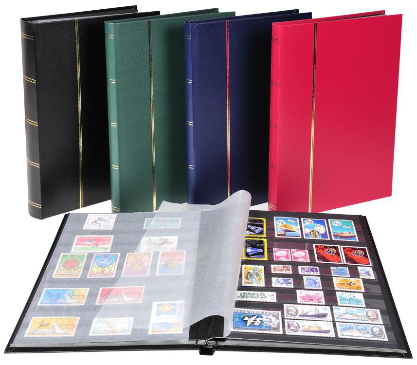 EXACOMPTA Briefmarkenalbum, 225 x 305 mm, rot, 16 Seiten