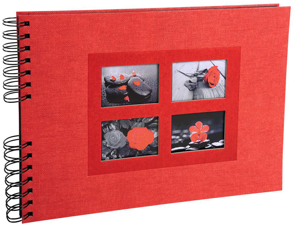 EXACOMPTA Foto-Spiralalbum Passion, 320 x 220 mm, rot