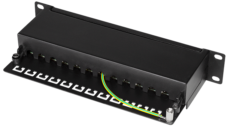 LogiLink 10´ Patch Panel Kat. 6A, 12-Ports, sch...