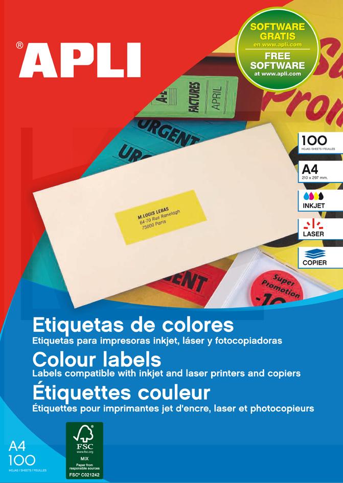 agipa Adress-Etiketten, 70 x 35 mm, neonrot