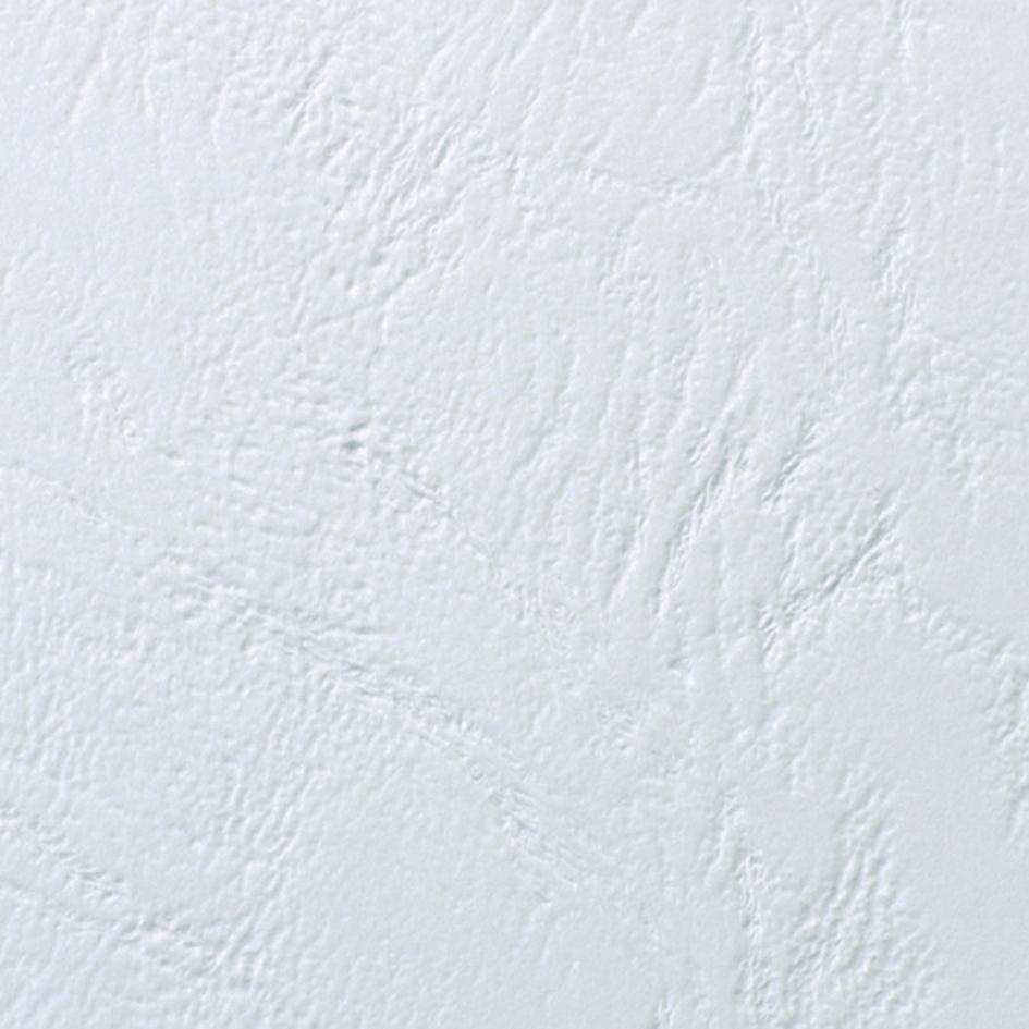 GBC Einbanddeckel LeatherGrain, DIN A4, 250 g/qm, weiß