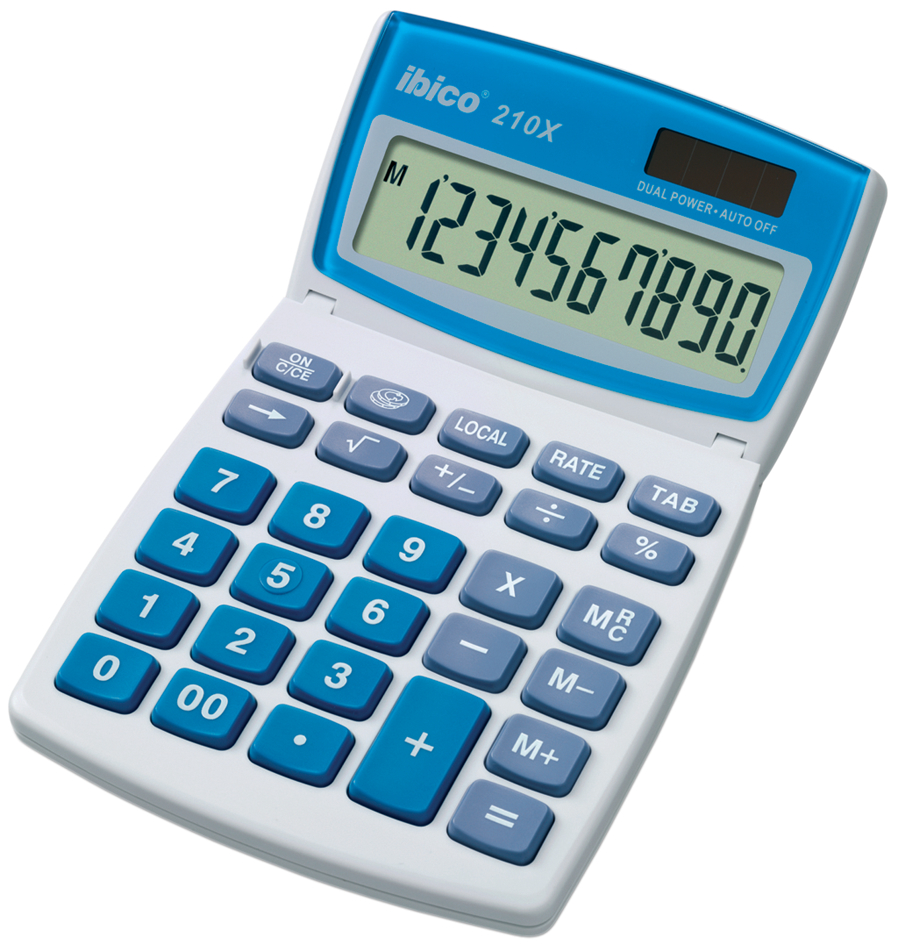 ibico Tischrechner 210X, 10-stelliges LCD-Display