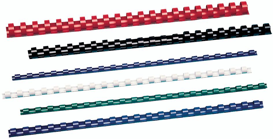 GBC Plastikbinderücken CombBind, DIN A4, 16 mm, blau