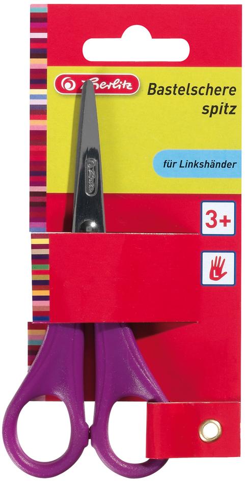 herlitz Bastelschere, spitz, Länge: 133 mm