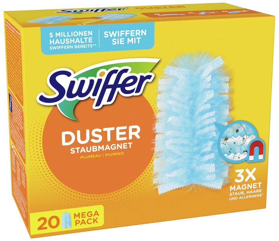 Swiffer Staubmagnet Tücher - Nachfüllpack, 20er Pack