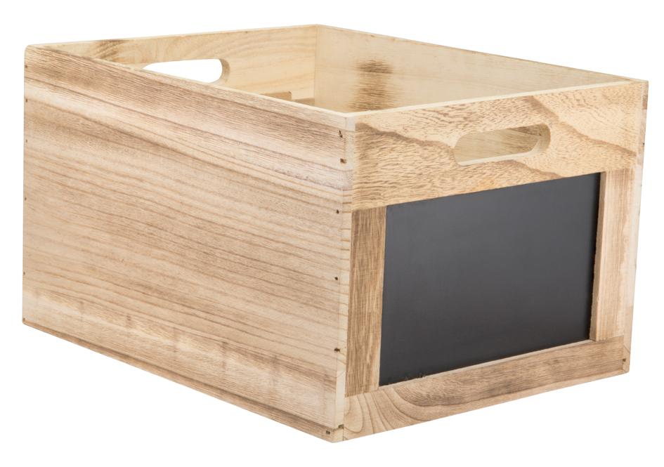 Securit Holzbox Tablecaddy, mit 2 Kreidetafelfl...