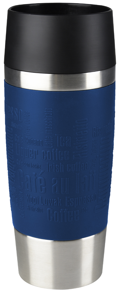 emsa Isolierbecher TRAVEL MUG, 0,36 L., Manschette blau